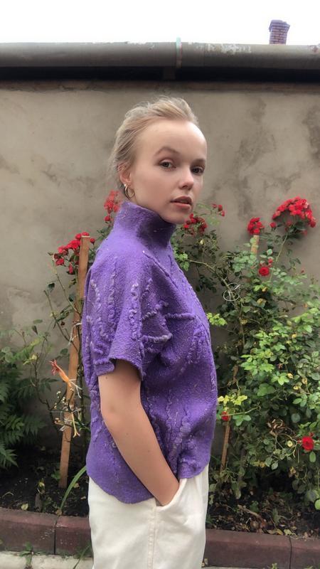 Валяный джемпер Виолет