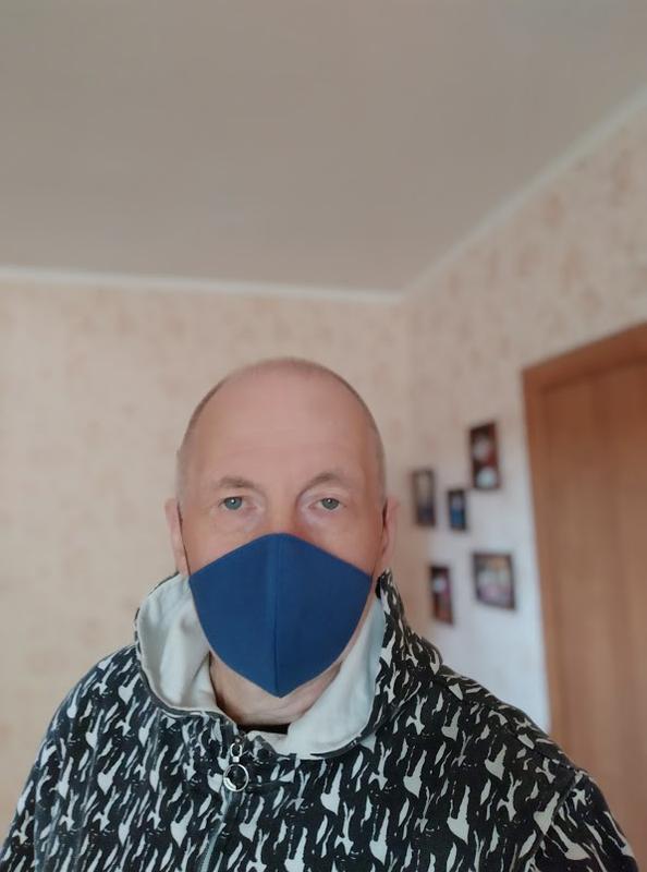 """Комплект из двух масок """"Черная и синяя"""""""