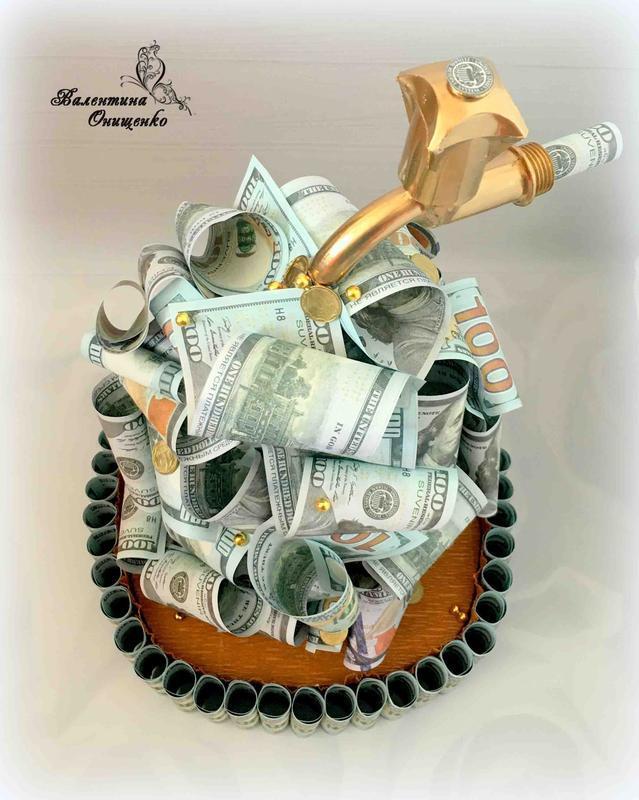 Денежный  кран / денежный  подарок  / топиарии
