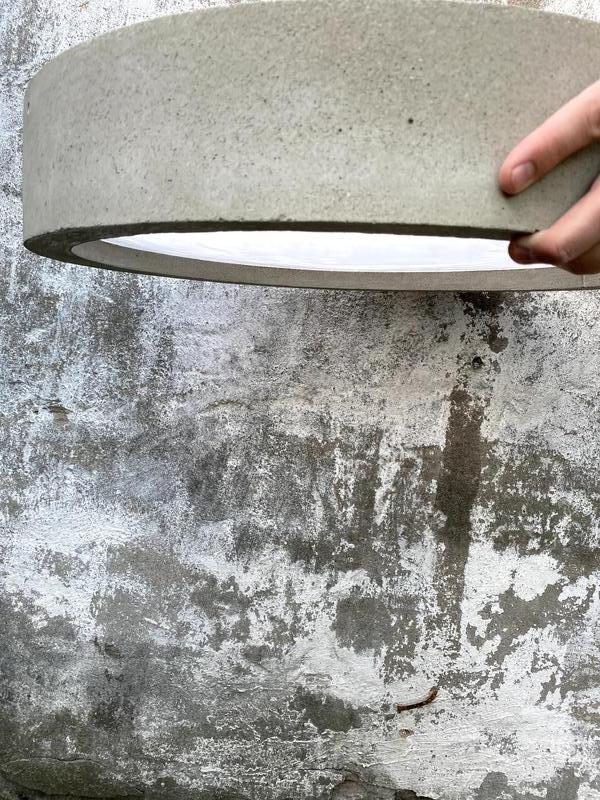 Люстра из бетона бетон 76