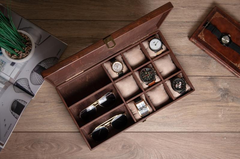Шкатулка для хранения часов и аксессуаров Hetch DS7 из дерева