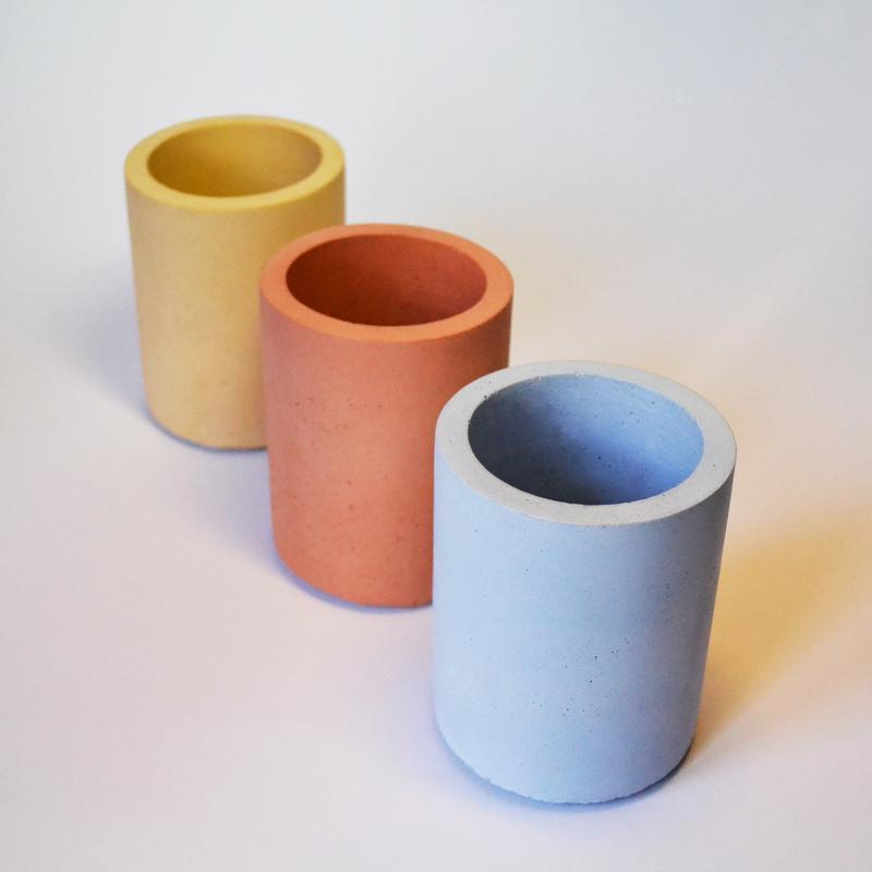 Набор Бетонных горшков, кашпо из бетона для цветов