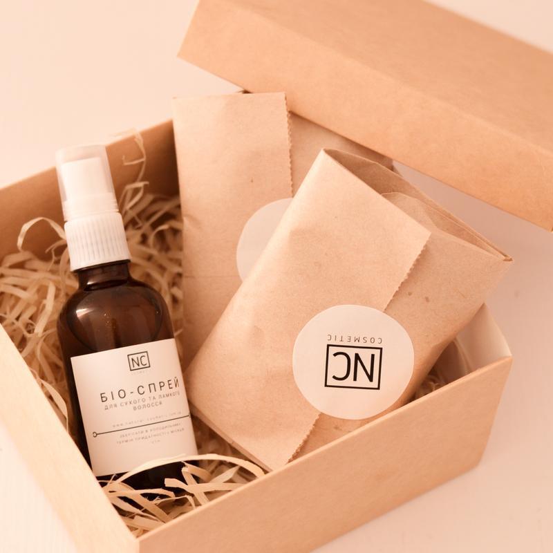 Подарочный набор для Шелковистых волос Твердый шампунь и Био-спрей
