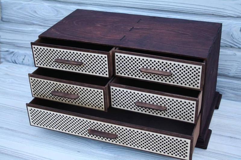 Красивый деревянный комод для косметики, комод для рукодельницы, шкафчик для мелочей, мини-комод