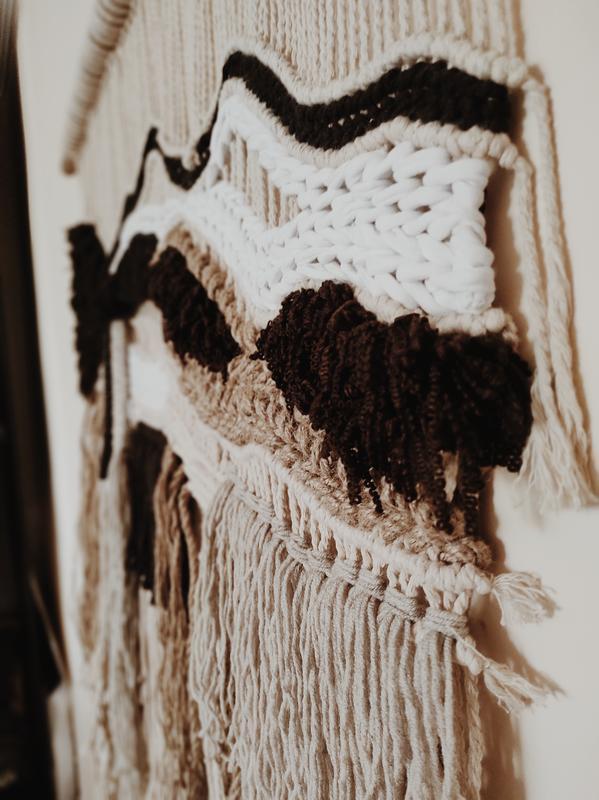 Макраме/Большое Макраме панно на стену/Бохо декор в интерьєре/Гобелен/Декор для стін