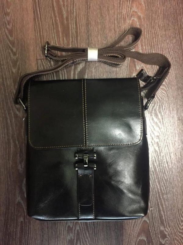 006414021341 Стильная мужская сумка-мессенджер, 100% натуральная кожа. ручной ...