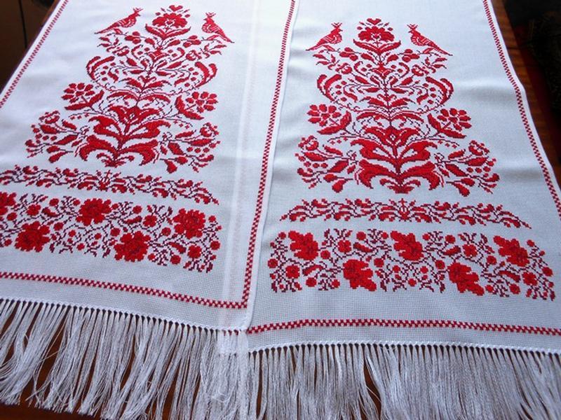 Свадебный рушник Обрядовый. Дерево жизни с мужской и женской стороной. 245*42 см.м.