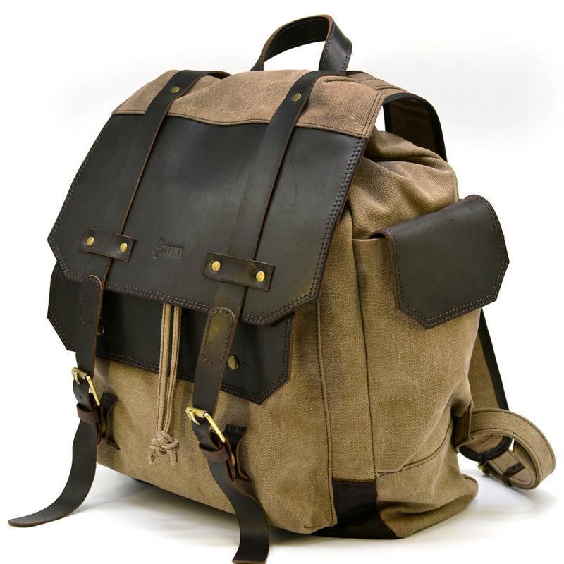 Городской рюкзак Урбан в комбинации ткань+кожа RSc-6680-4lx TARWA