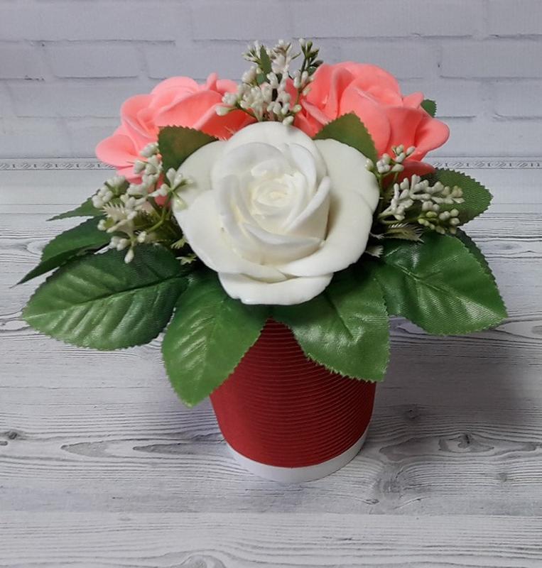 """Букет цветов из мыла """"Розы """""""