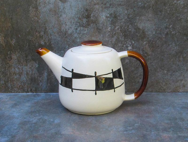 "Чайник Лейка декор ""Галаретка"" черно-белый"
