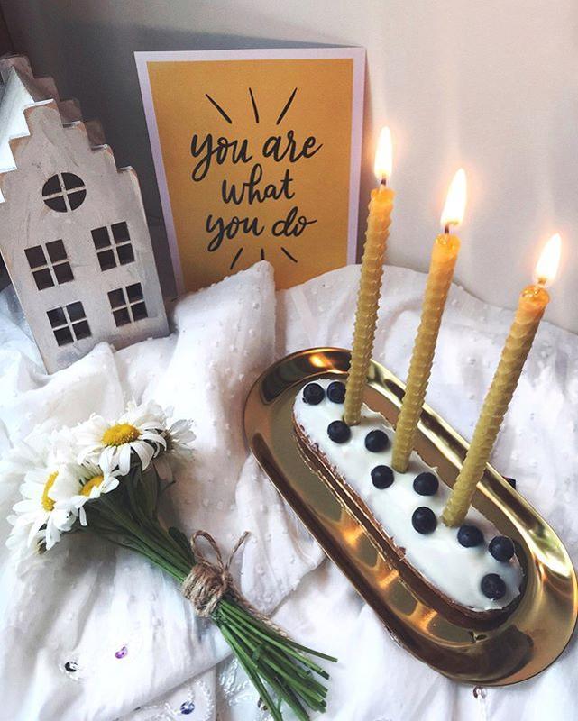 Натуральные свечи на торт