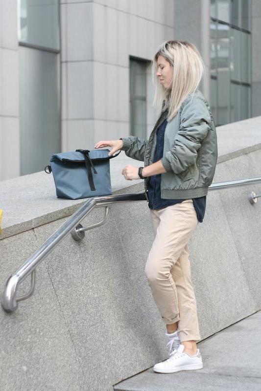 Термосумка Lunch bag XL серая
