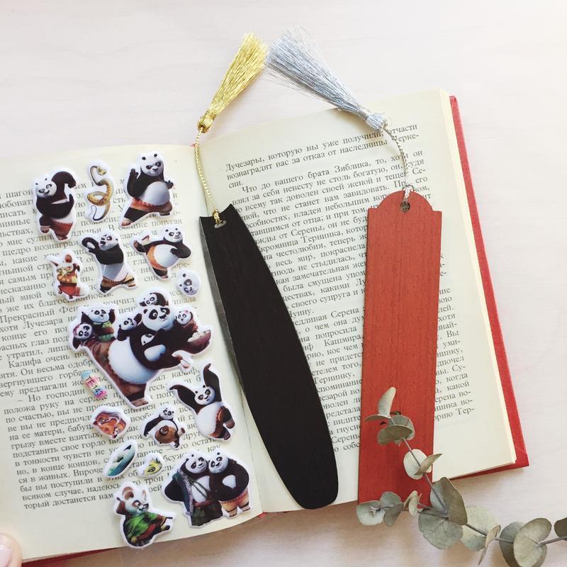 Набор из 2-х деревянных закладок для книг. Сделай сам закладку.