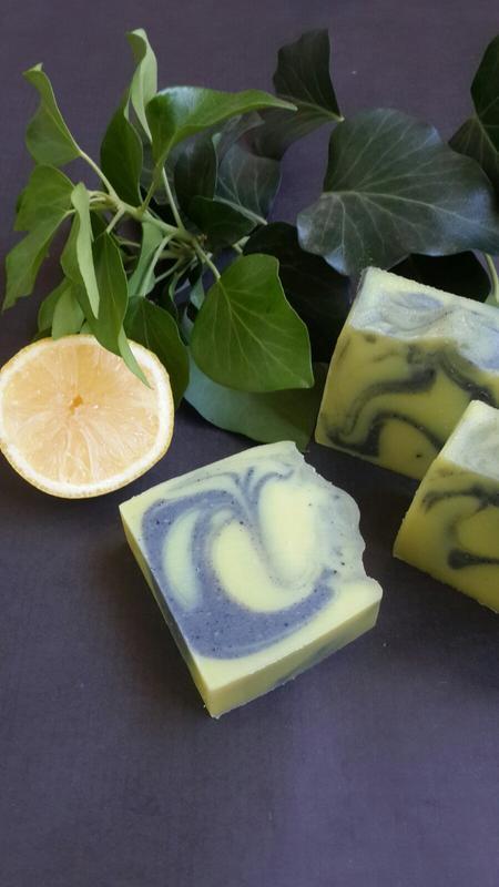 Натуральное мыло с нуля.Лимон-чайное дерево.(шелковое,с активированным углем)