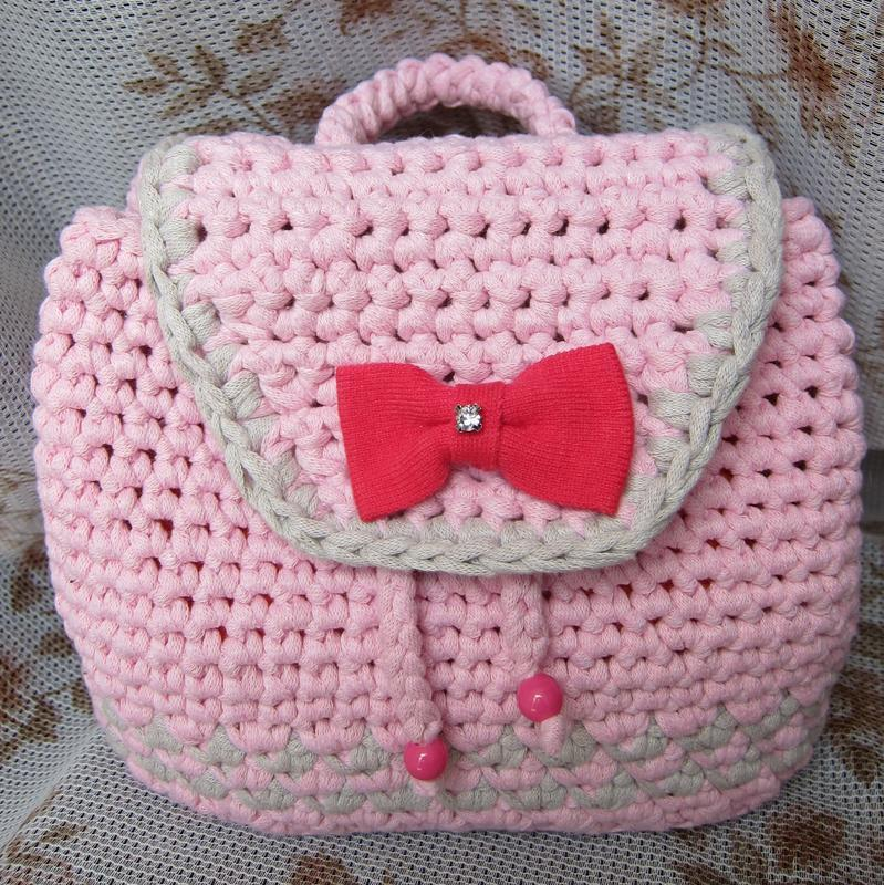 a4ce9ea7f682 Вязаный детский рюкзак ручной работы купить в Украине. №83843
