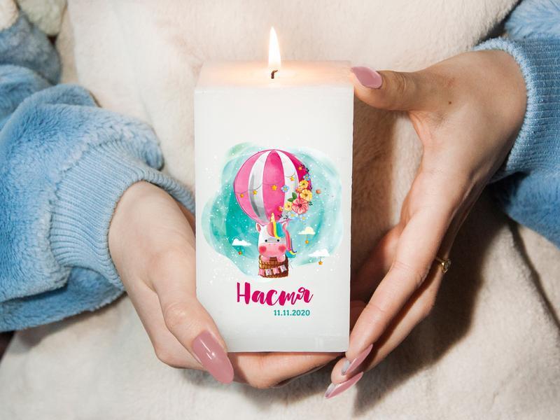 Именная свеча для декора интерьера, подарок на день рождения