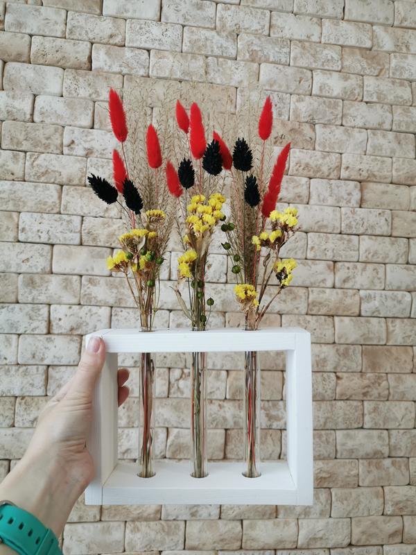 Сухоцветы в колбах