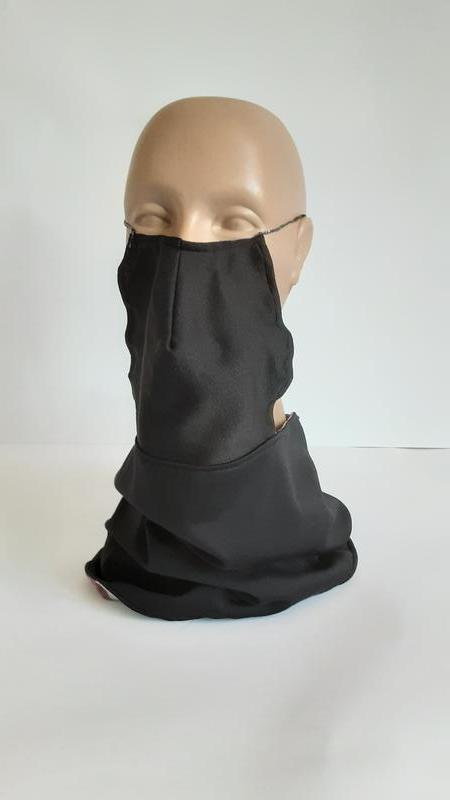 Снуд мужской двухсторонний с защитными масками. Шитый стильный хомут трансформер