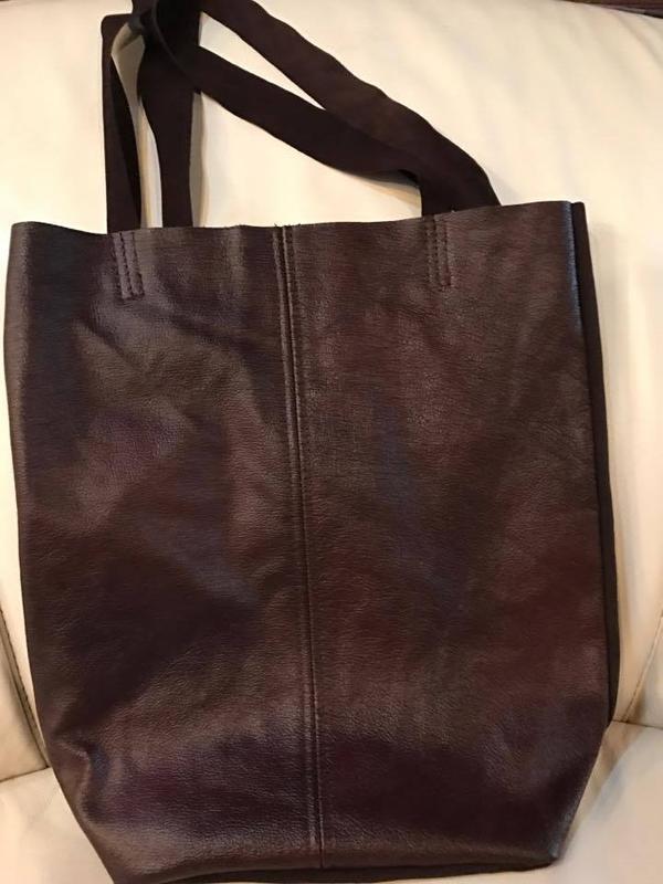 904ddff77ba9 Кожаная сумка шоппер!цвет морсала! ручной работы купить в Украине ...