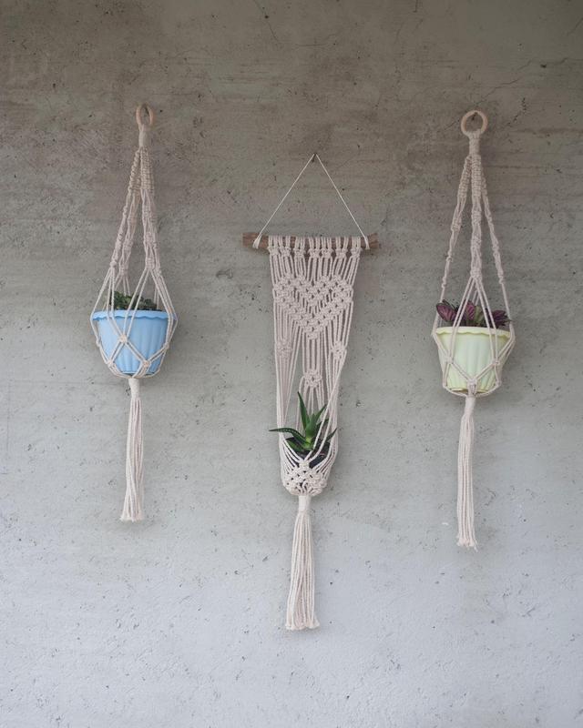 Подвесные кашпо для цветов макраме, подвесные кашпо для цветов