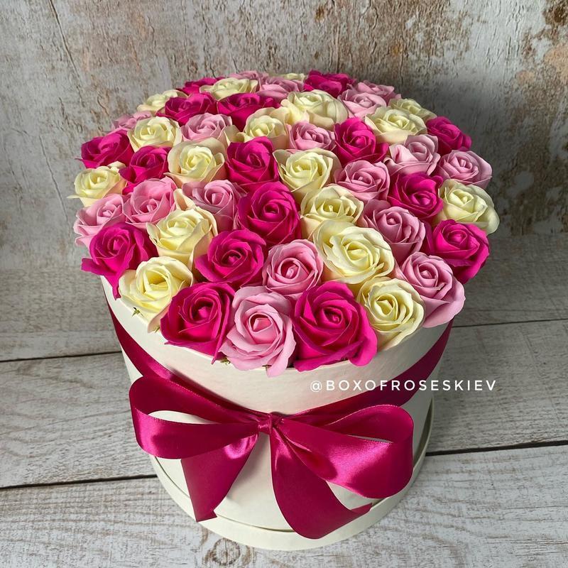 Букет из 51 мыльной розы
