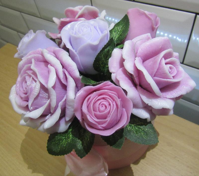 Букет роз мыльные розы