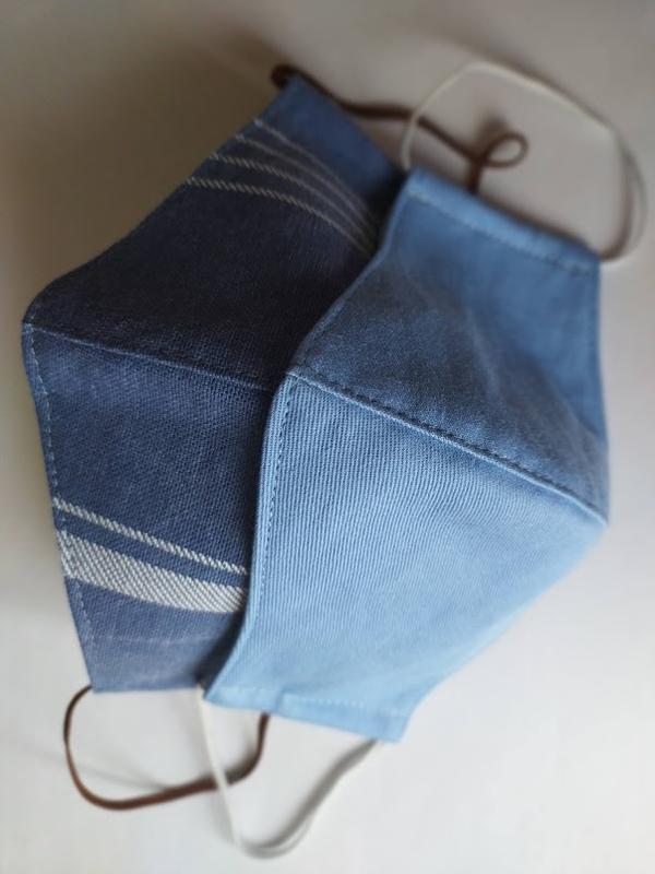 """Комплект из двух масок """"джинсовая и полосатая"""""""