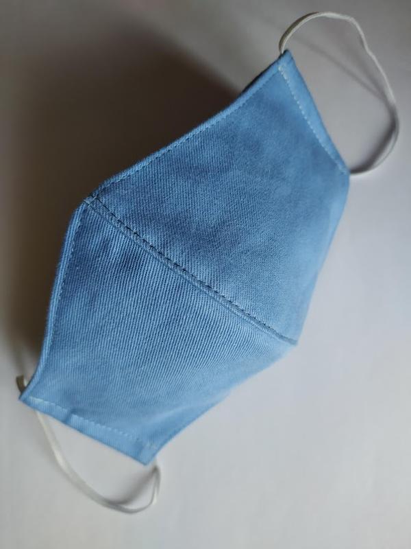 """Комплект из двух масок """"джинсовая и белая"""""""