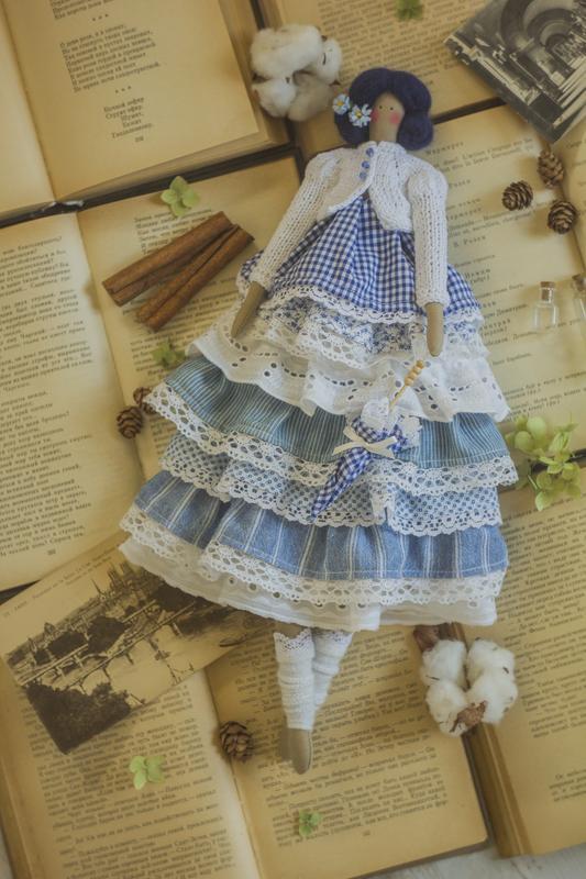 Интерьерная кукла-тильда Мускари