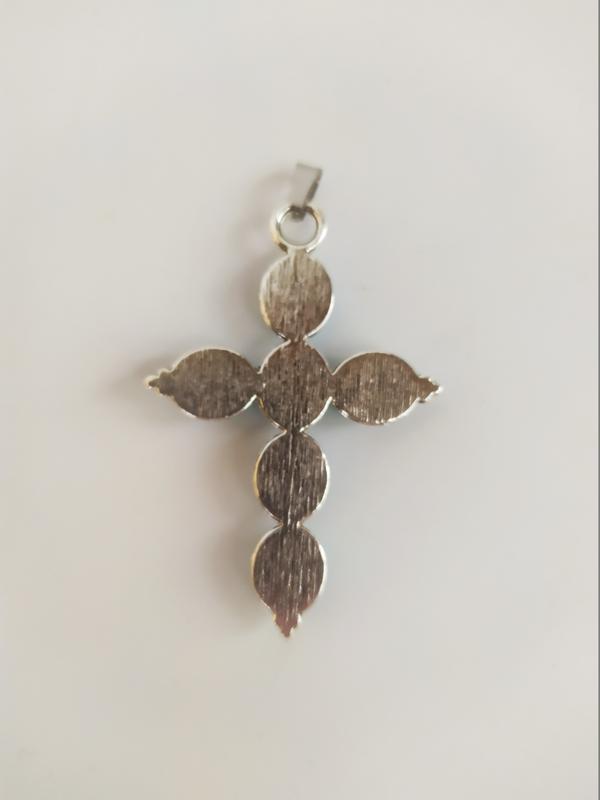 "Кулон "" Крест"" из натурального камня бирюза"