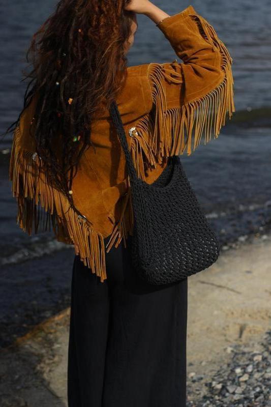 Вязаная эко сумка спицами, авоська