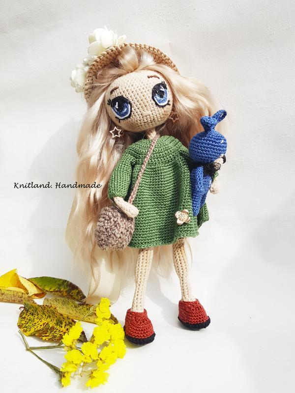 Коллекционная кукла с натуральными волосами