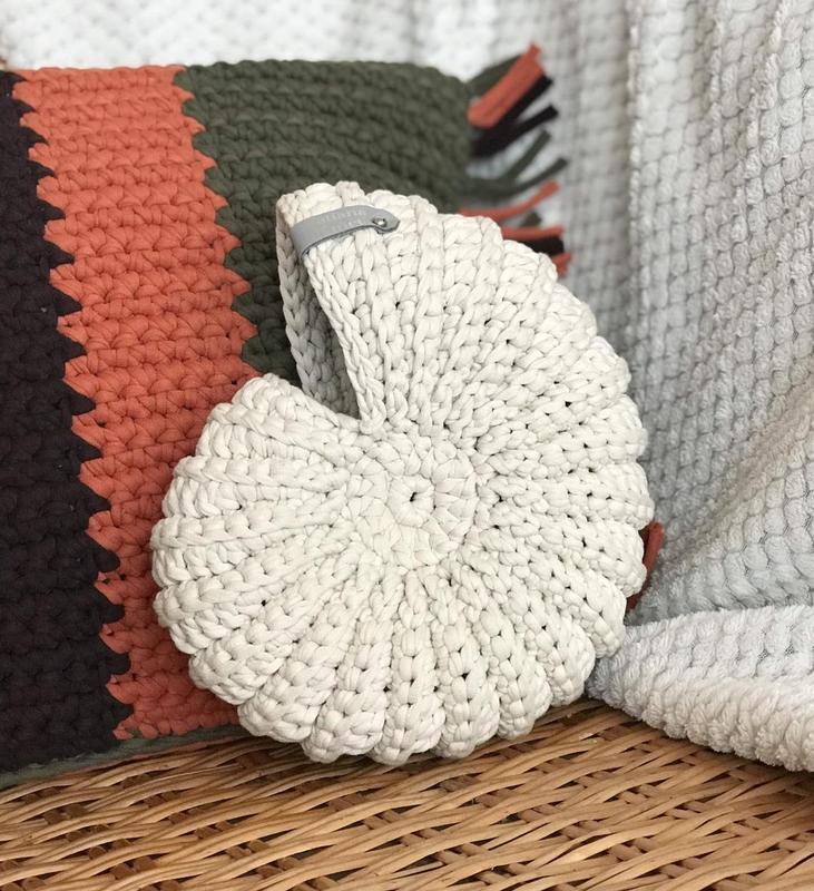 Корзинка гачком мушля ракушка наутілус морський декор для дому подарунок рідним декоративна корзина