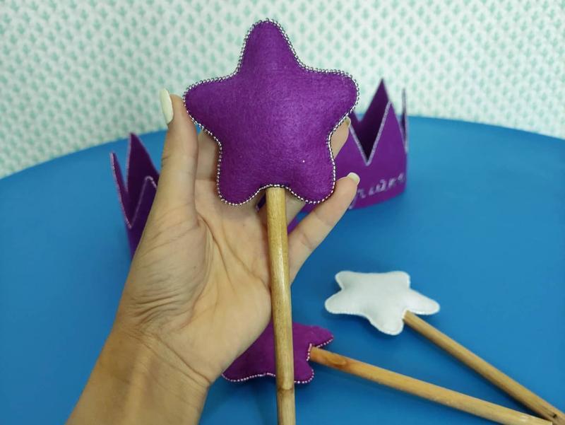 Корона и волшебная палочка из фетра