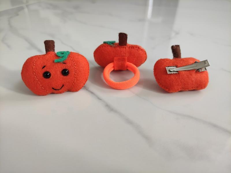 Заколки, резинки тыква pumpkin Halloween Хеллоуин