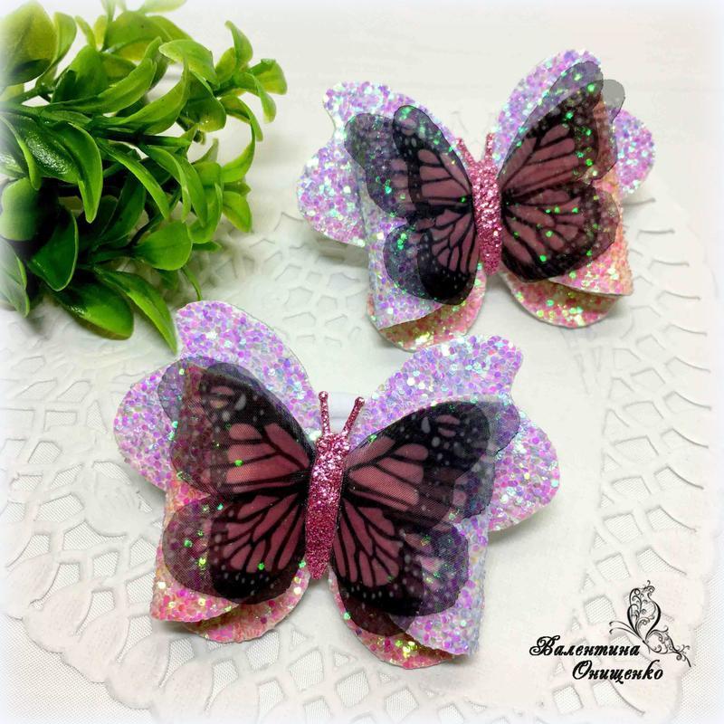 Бантики с шифоновыми бабочками