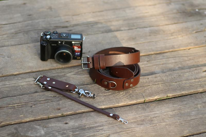 Кожаная разгрузка для фотоаппарата, на 1 камеру