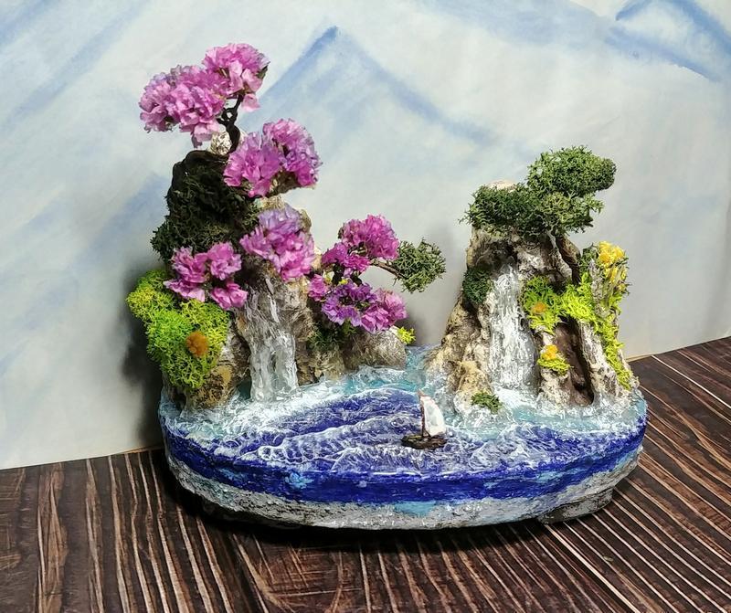 "3D картина ""Сакури над морем"""