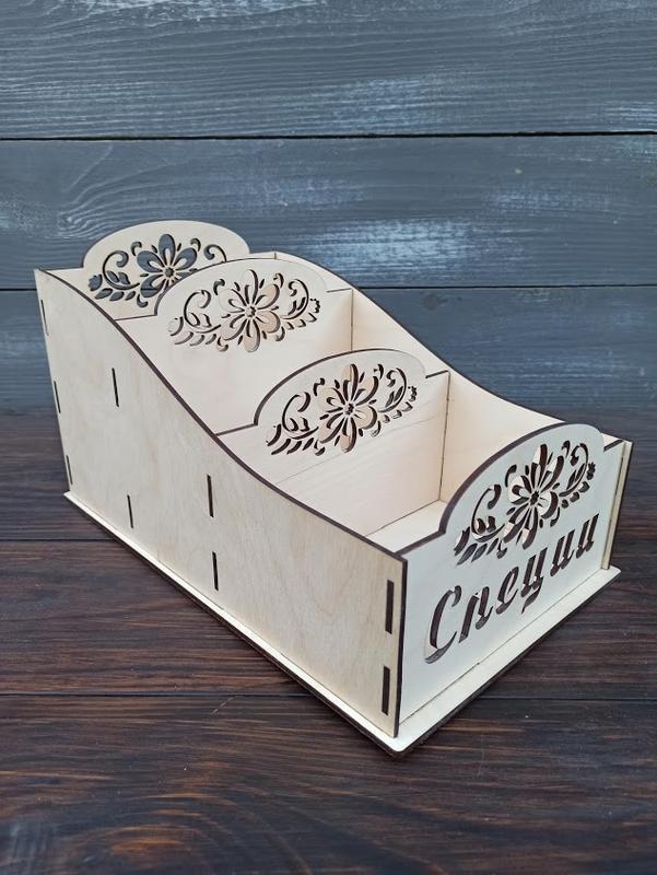 Деревянный органайзер, ящик, коробка для специй, деревянная спецовница