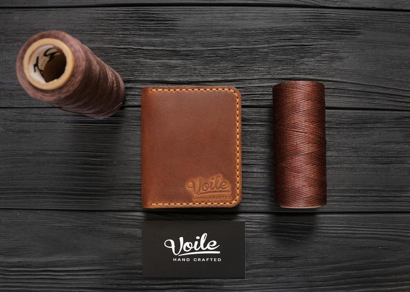 Чоловічий шкіряний гаманець VOILE vl-mw3-lbrn-tbc