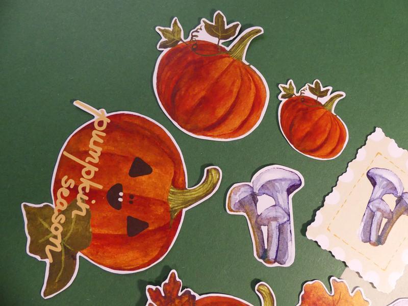 """Набор осенних стикеров """"Хелоуин""""; наклейки для планеров, скрапбукинга"""