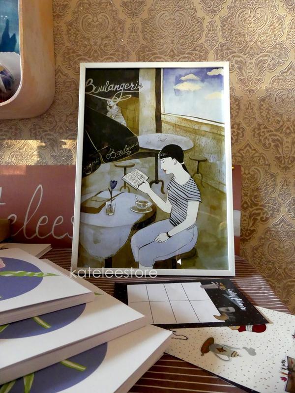 """Арт-принт """"Кафе"""", постер с акварельной иллюстрацией"""