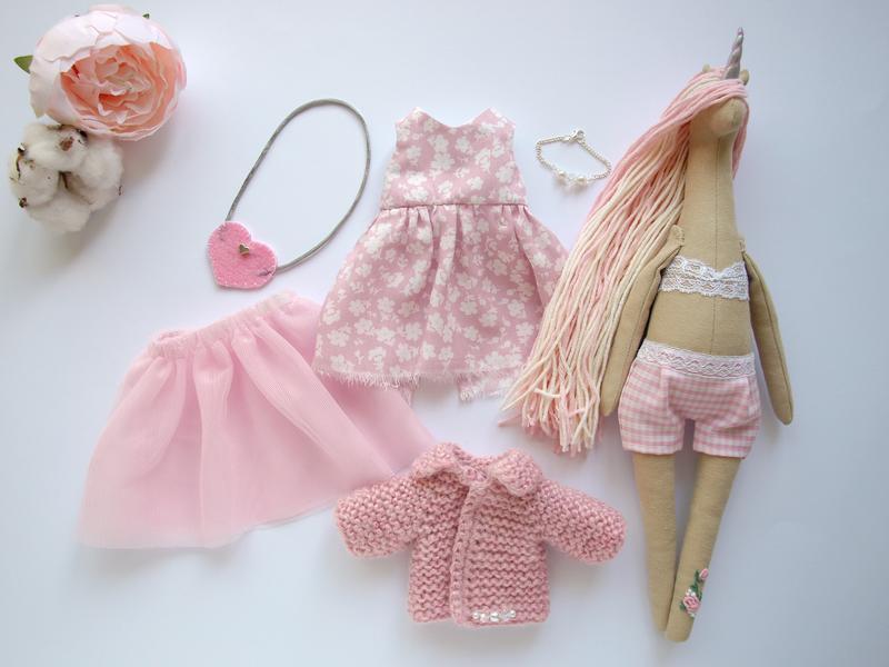 Кукла единорог / Единорог / Кукла с одеждой / Кукла с одеждой