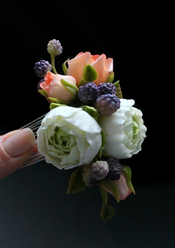 Гребень с цветами