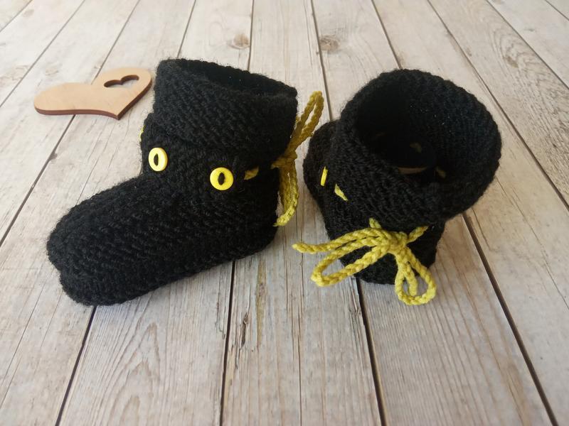 Детские вязаные пинетки, пинетки носочки, обувь для новорожденного