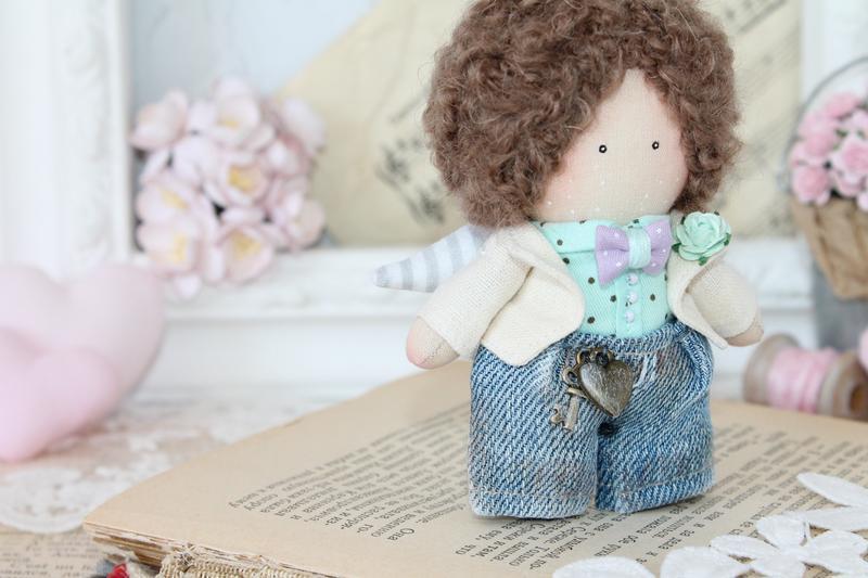 Маленький текстильный ангелок, мальчик