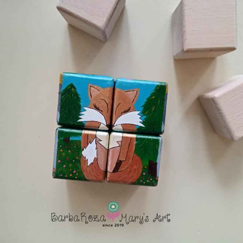 Набор деревянных кубиков Зверьки и насекомые