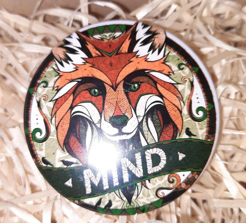 Круглый Закатной Полиграфический Значек Значок Art Арт Mind
