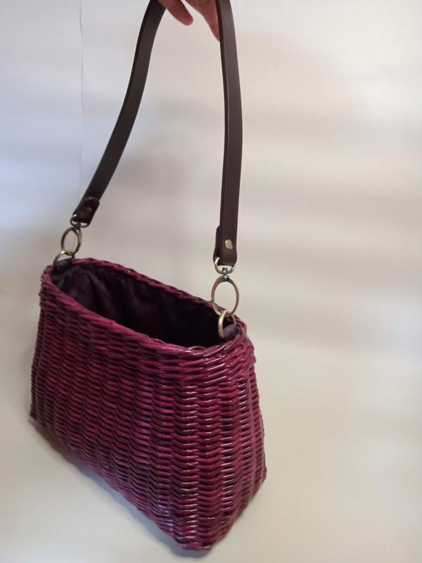 Spicy Plum* Плетеная открытая сумка с карманом