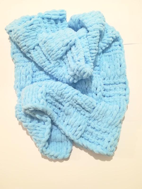 Плед плюшевый Шахматка, плед для новорожденных, цвет - узор - размер на выбор
